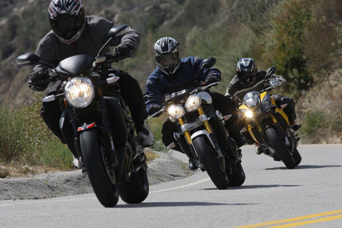 leading a motorcycle group